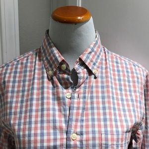 J. Crew bottom down shirt.